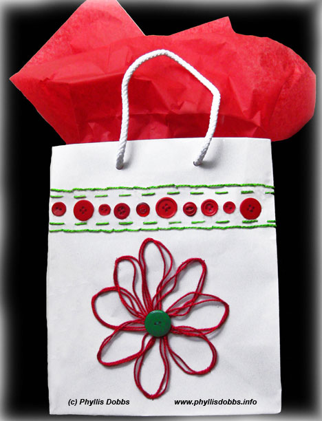 Make your own needlepoint gift bags - instructions included