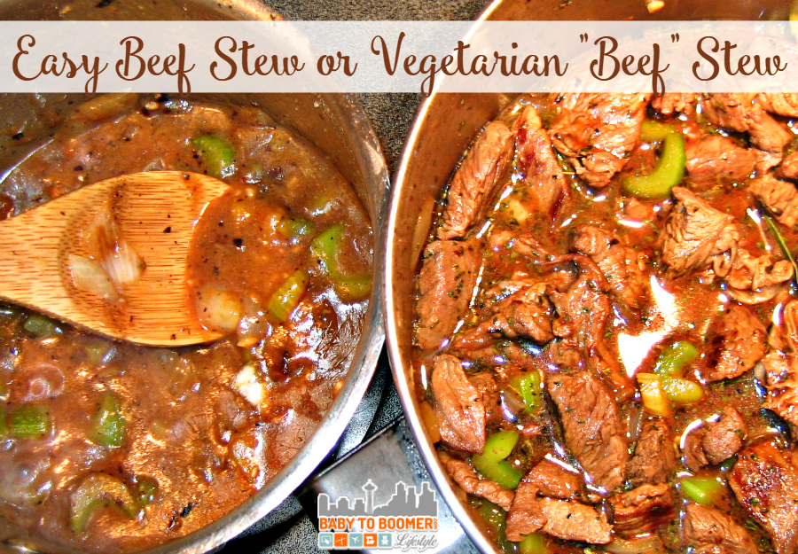 Simply Delicious Beef Stew Including Vegetarian Options