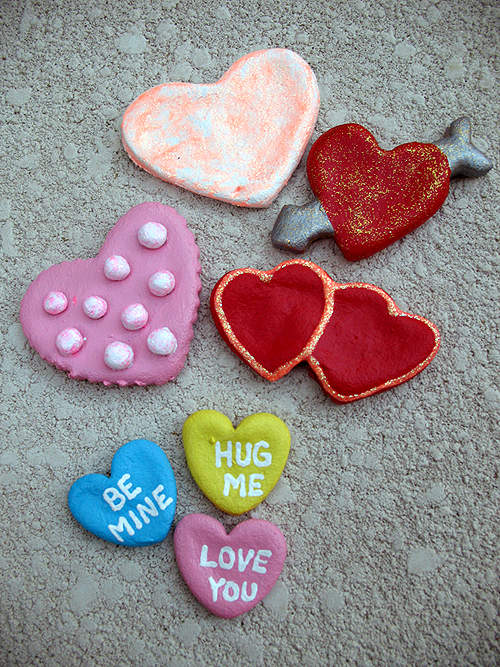 Salt Dough Heart Magnet & Pin Craft Tutoria by crafts.kaboose.com