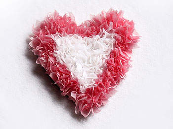 Tissue Paper Hearts for Valentine's Day - simply crafts for kids