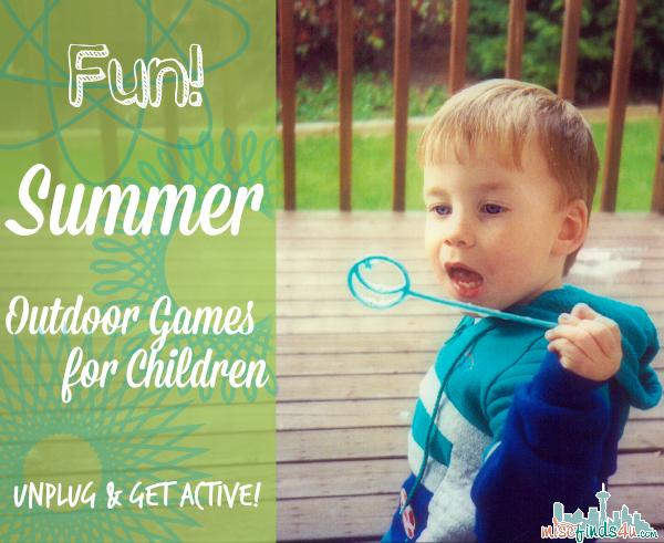Fun Active Summer Outdoor Games for Children