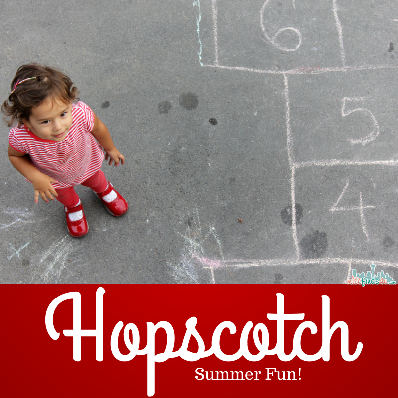 Hopscotch - Fun summer activity - link to full rules and alternative play