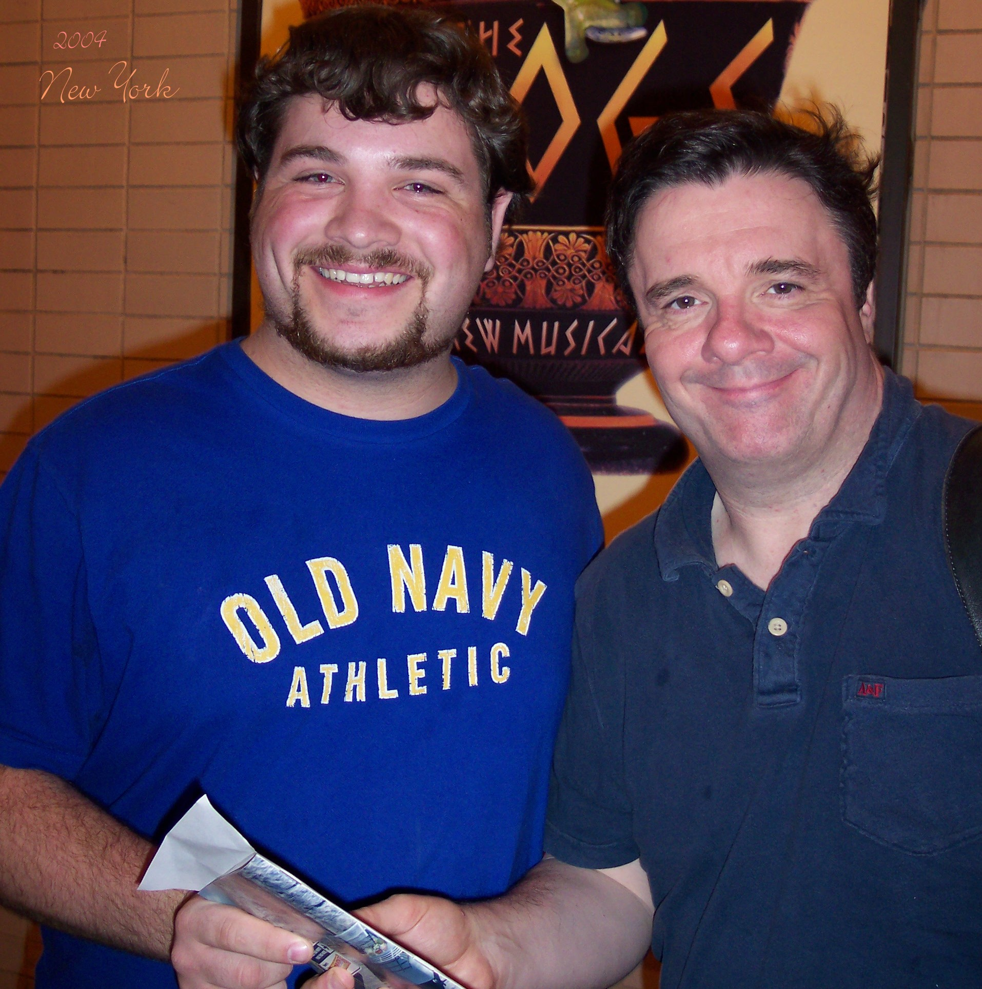 Meeting Nathan Lane after FROGS in 2004