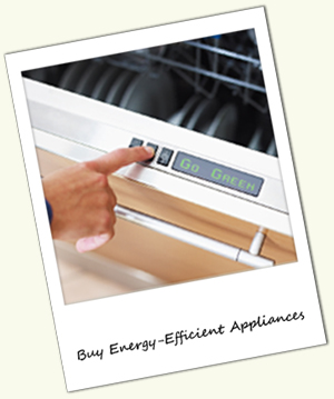 Go green by buying energy efficient appliances