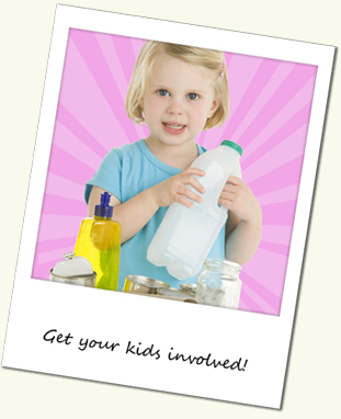 Get your kids in on the recycling action at home - they'll love it!