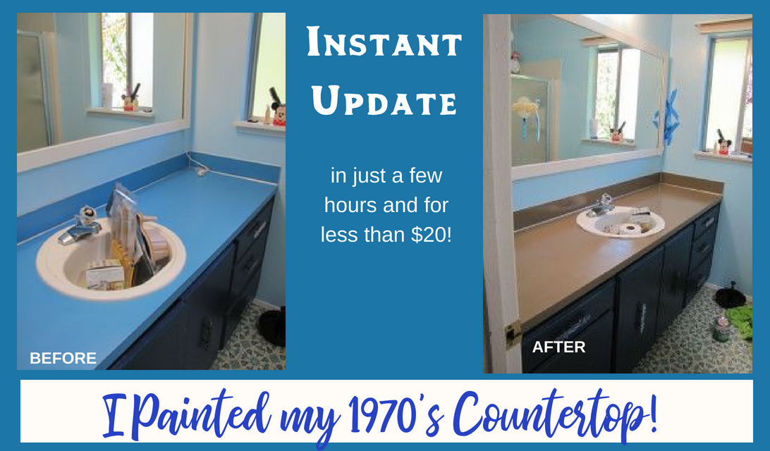 Instant Bathroom Update - Paint Your Bathroom Countertop for under $20