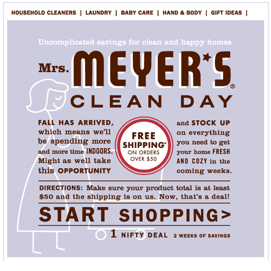 Mrs Meyers Fall Stock up and Free Shipping Event