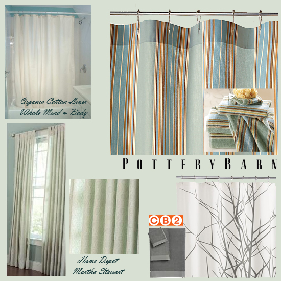 Bathroom Makeover - Shower Curtain Choices