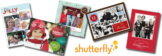 Shutterfly Personalized and customized holiday cards