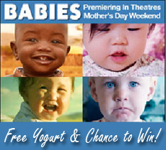 Win a Babies Movie Ticket from Stonyfield Yogurt and Whole Foods Market