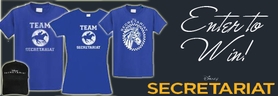 Enter to win a family pack of Disney Secretariat shirts to celebrate the October release