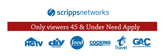 HGTV and Scripps Network Discriminate against Viewer over 45