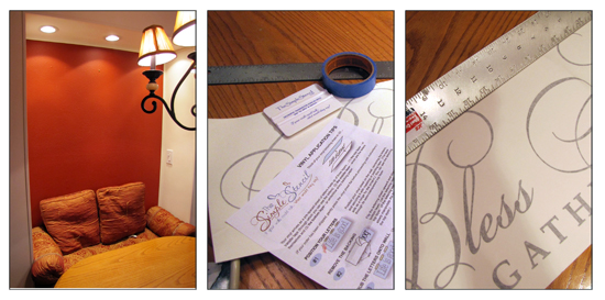 The Simple Stencil Installation - Step by step installation of a wall stencil