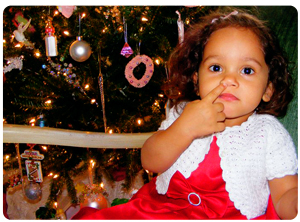 Angelina Picking her nose in formal Christmas Dress