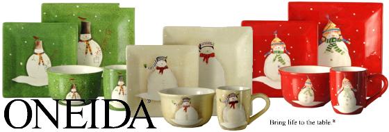 Oneida Holiday Dinnerware & Adorable and Affordable Snowmates Holiday Dinnerware From Oneida ...