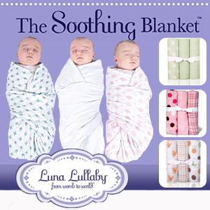 The Soothing Swaddle Blanket from Luna Lullaby