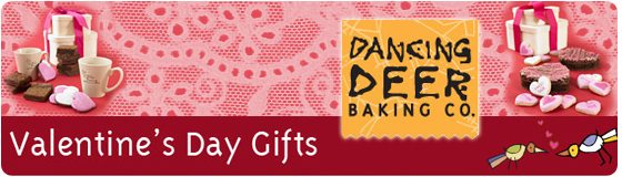 Send you Valentine gourmet cookies from Dancing Deer Baking Company