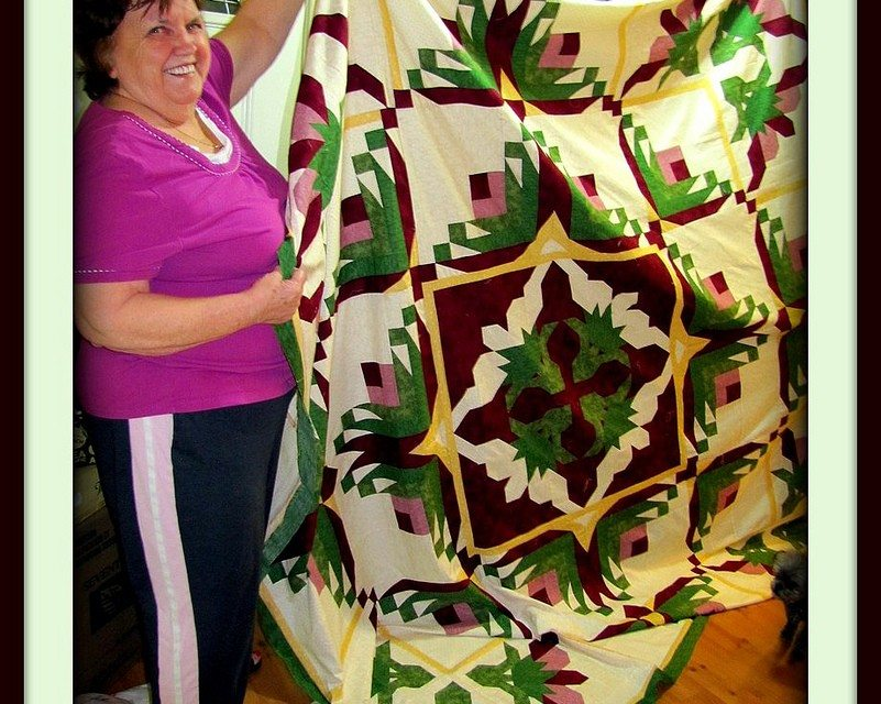 Wordless Wednesday – Mom's Newest Quilt Pieced and Ready for Quilting