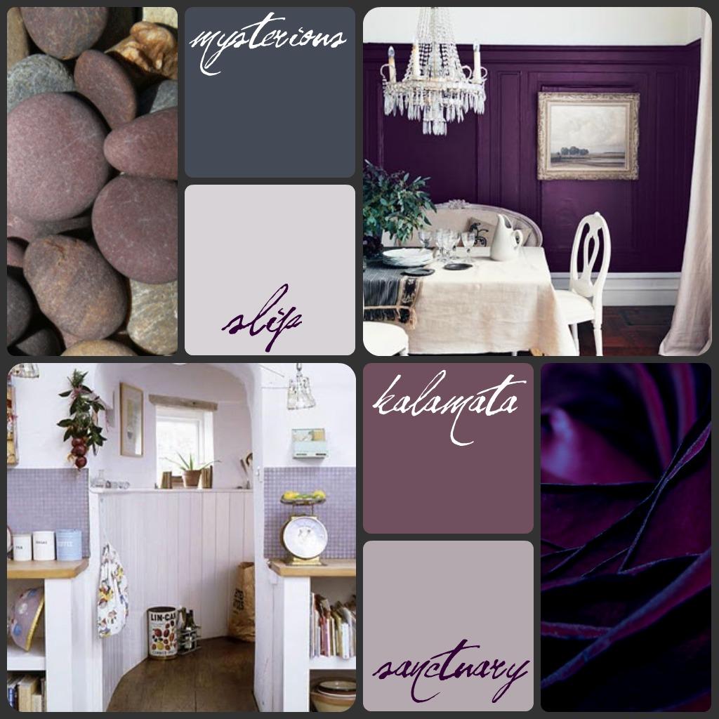 Victorian Home - Purple Mood Board
