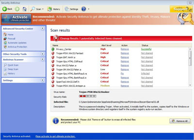 Fake Antivirus Software is actually a virus attack