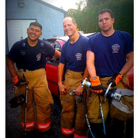 My fire fighter and his crew and the tools they use to save others.
