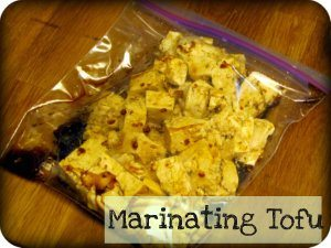 Marinating tofu for stir-fry