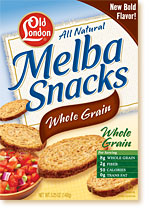 Old London Melba Snacks Whole Grain - Nutrition and Ingredient Information