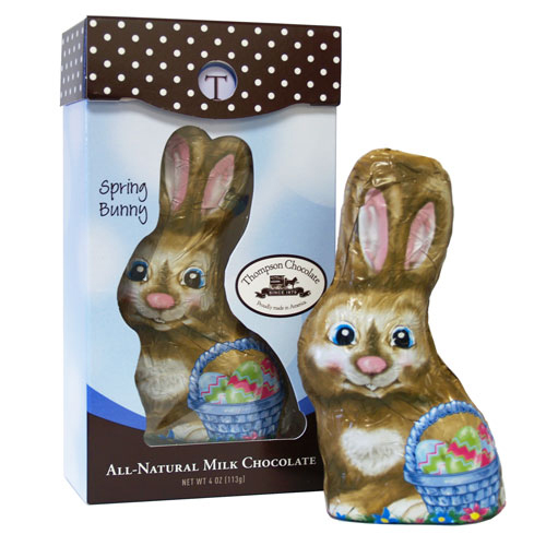 Natural and Organic Easter Candy - NO artificial colors or dyes, NO artificial flavors, NO artificial sweeteners, NO preservatives, and NO hydrogenated oils! - Milk Chocolate Easter Bunny