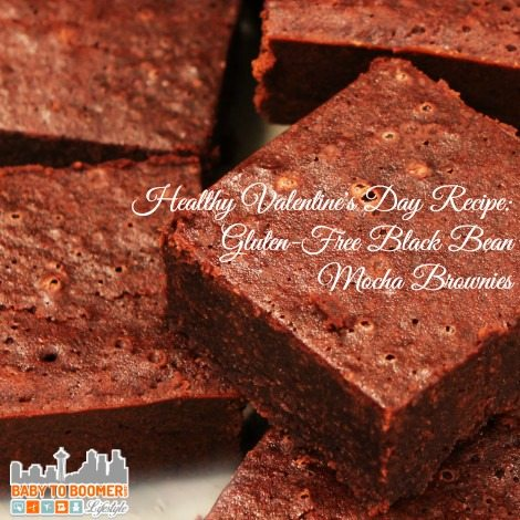 Healthy Valentine's Day Recipe Gluten-Free Black Bean Mocha Brownies