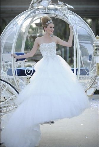 Cinderella Platinum Wedding Dress