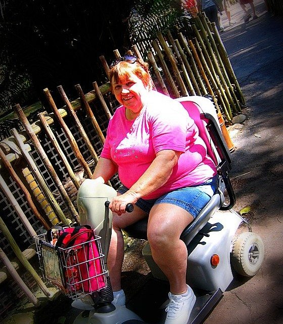 Wordless Wednesday – Traveling by Scooter at Disney