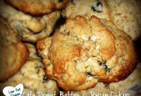 Healthy Oatmeal Peanut Butter and Raisin Cookie Recipe