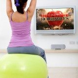 Why not do some stretches and easy weight lifting while watching tv