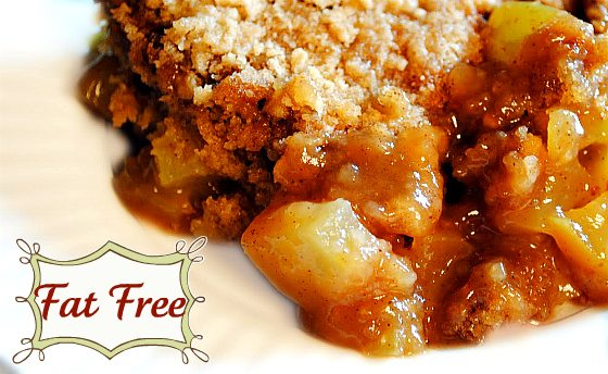 Fast and easy Fat-free Apple Cobbler Crisp