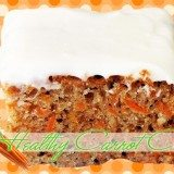 Healthy Carrot Cake with Cream Cheese Frosting