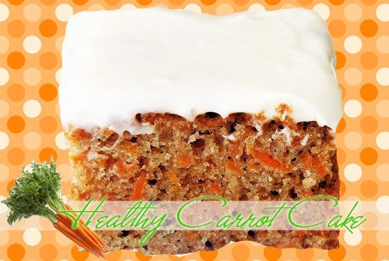 Healthy Low Fat Carrot Cake with Cream Cheese Frosting