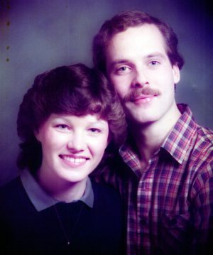 Our engagement photo - 1982