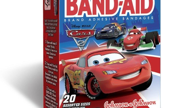 Disney Cars 2 Band-Aid Bandages For Kids