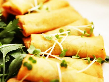 Low Fat Vegetarian Spring Rolls