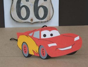 CARS 2 Crafts: DIY Lightening McQueen Air Freshener