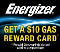 Energizer Gas Reward Card