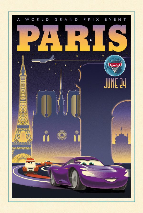 Paris Cars 2 Poster
