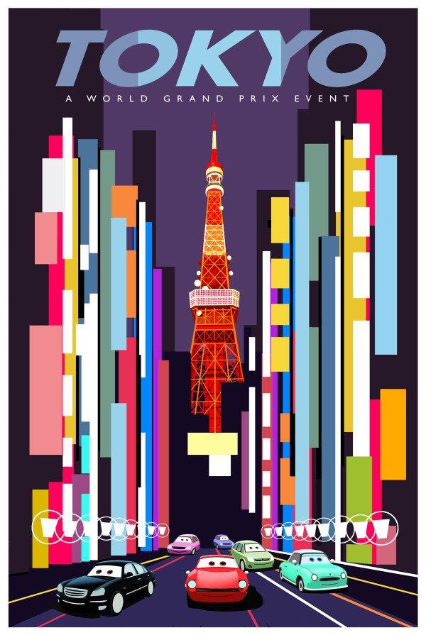 Cars 2 Tokyo Poster
