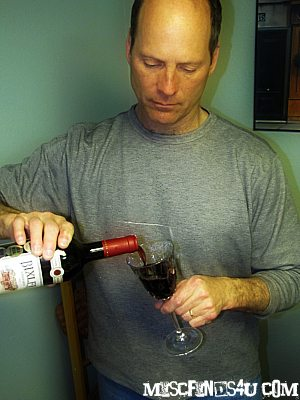 After a hard day of work in the yard, the hubby enjoy the Bixler Vineyard wine from The California Wine Club