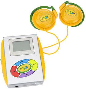 Crayola Kid-Friendly MP3 Music Player