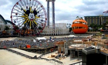 Disneyland World of Color During Construction