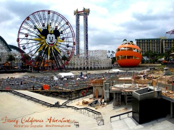 Construction photo of Disney's California Adventure Park World of Color Attraction