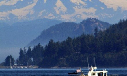 Photo of the Day:  Mt Baker from the Washington State Ferry Hyak