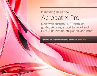Acrobat X Pro Features