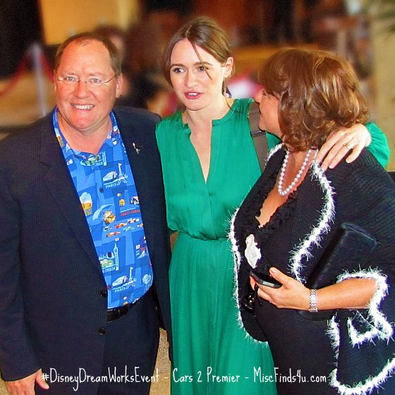 John Lasseter, Emily Mortimer, and Mr's Lasseter at the Cars 2 Premier